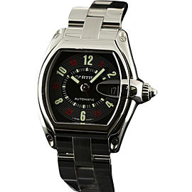 Cartier Roadster W62002V3 Black Arabic Steel Automatic Mens Watch