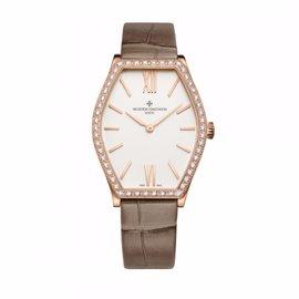 Vacheron Constantin 25530/000r-9742 Malte 18K Rose Gold Diamond 28.4mm x 34.4mm Watch