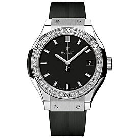 Hublot 581.nx.1171.rx.1104 Classic Fusion Quartz Diamonds Titanium 33mm Mens Watch