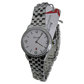 Bulova 96R183 Stainless Steel & White Dial 32.2mm Womens Watch