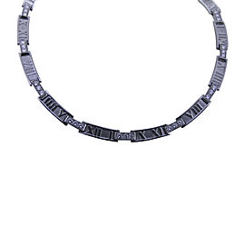 Tiffany & Co. 18K White Gold Atlas 1.8ct. Diamond Gold Collar Necklace