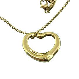 Tiffany & Co. Elsa Peretti 18K Yellow Gold Open Heart Pendant Necklace