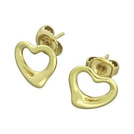 Tiffany & Co. Elsa Peretti 18K Yellow Gold Open Heart Stud Earrings