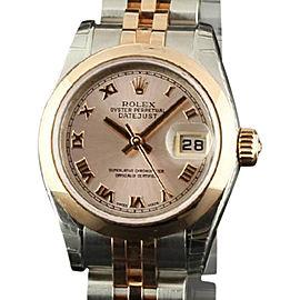 Rolex Datejust 179161 Steel Gold 26mm Womens Watch 2008