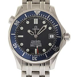 Omega Seamaster 2222.80.00 Stainless Steel Blue Dial 36mm Mens Watch