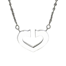 Cartier 18k White Gold C Heart Necklace