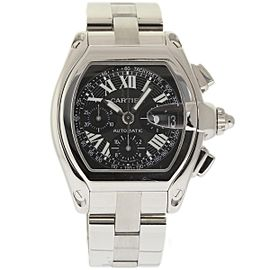 Cartier Roadster W62020X6 Stainless Steel Black Dial Automatic 42mm Mens Watch