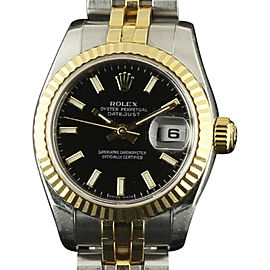 Rolex Datejust 179173 Stainless Steel and Yellow Gold 26mm Womens Watch