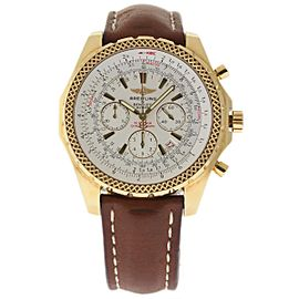 Breitling Bentley K25362 18K Yellow Gold / Leather 48mm Mens Watch