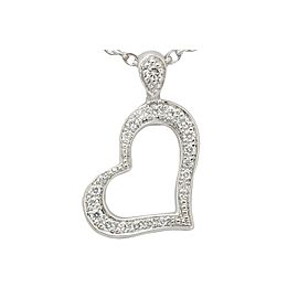 Piaget 750 White Gold Limelight Heart Diamond Necklace