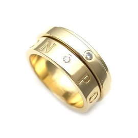 Piaget 750 Yellow Gold Possession Diamond Ring Size 5