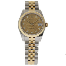 Rolex Datejust 178273 Yellow Gold 31mm Womens Watch