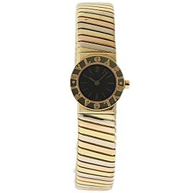 Bulgari Tubogas BB192T 18K Yellow Gold 20mm Womens Watch