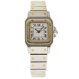 Cartier Santos Galbee Stainless Steel & 18K Yellow Gold 24mm Womens Watch