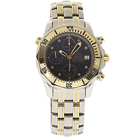 Omega Seamaster 2398.80.00 Chronograph Stainless Steel and Yellow Gold Blue Wave 42mm Mens Watch