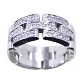 Cartier Panthere 18K White Gold & Diamond Ring Size 4