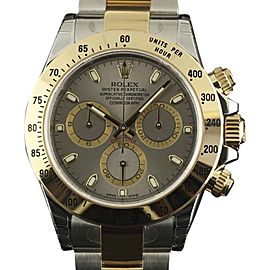 Rolex Daytona 116523 Stainless Steel & 18K Yellow Gold Grey Dial Automatic 40mm Mens Watch