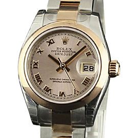 Rolex Datejust 179161 Stainless Steel & 18K Pink Gold Pink Roman Dial Automatic 26mm Womens Watch