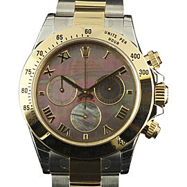 Rolex Daytona 116523 Stainless Steel & 18K Yellow Gold Mother of Pearl Dial Automatic 40mm Mens Watch