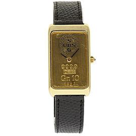 Corum 14400 18K Yellow Gold / Leather 34mm Unisex Watch