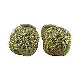 David Yurman 18K Yellow Gold Braided Knot Cufflinks