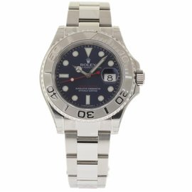 Rolex Yacht-Master 116622 Stainless Steel Platinum Dial Automatic 40mm Mens Watch 2017