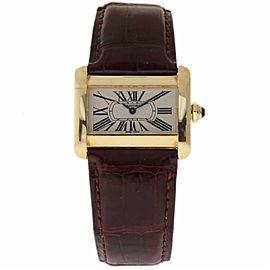 Cartier Tank Divan W6300356 Yellow Gold 25mm Womens Watch