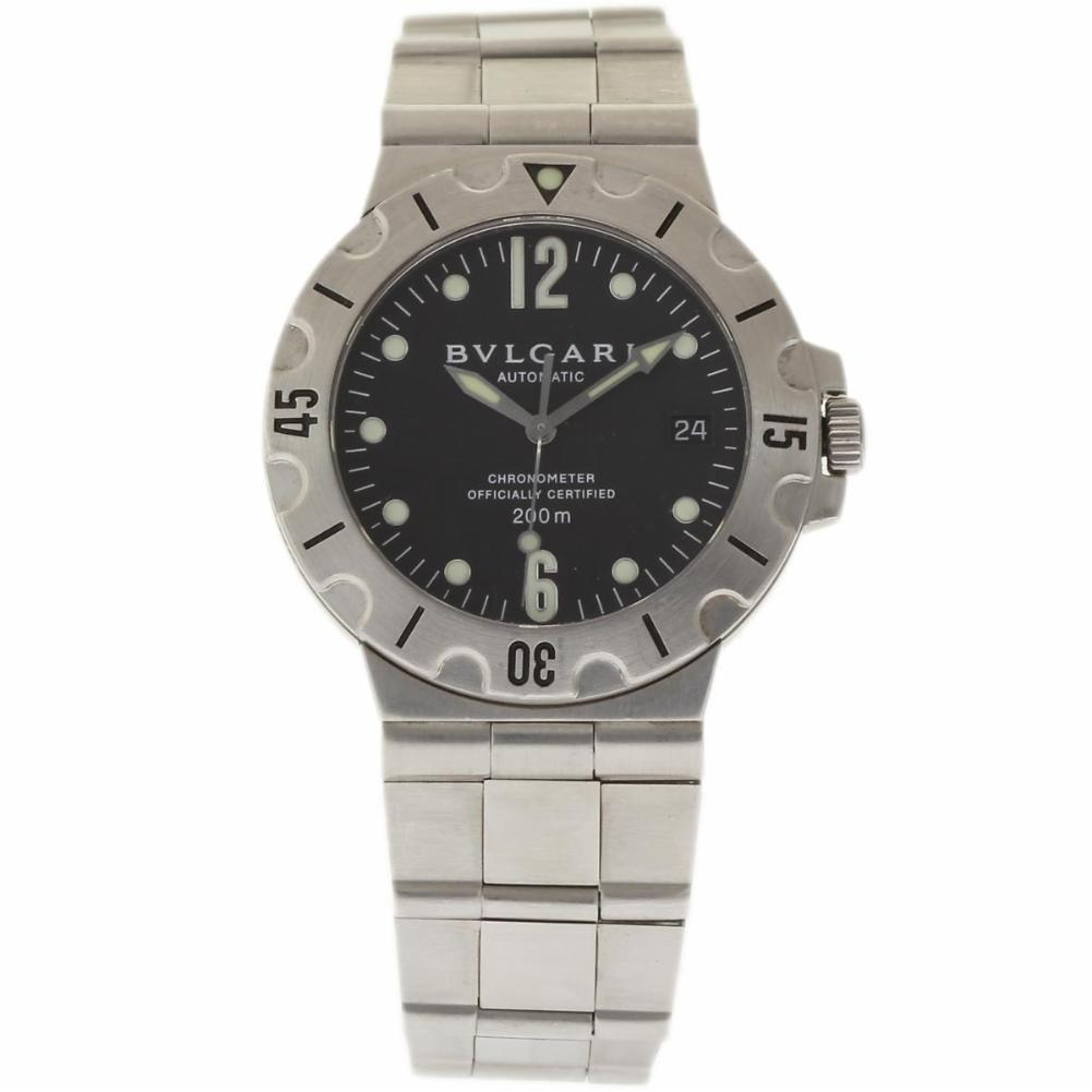 best sneakers 2852e 28f82 Bulgari Diagono Scuba SD38S Stainless Steel Automatic 38mm Unisex Watch