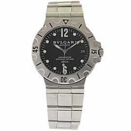 Bulgari Diagono Scuba SD38S Stainless Steel Automatic 38mm Unisex Watch