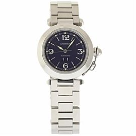 Cartier Pasha W31055M7 Stainless Steel Blue Dial Automatic 35mm Womens Watch