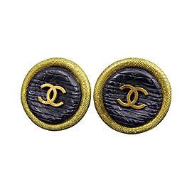 Chanel Coco Mark CC Logo Gold-Tone Clip-On Earrings
