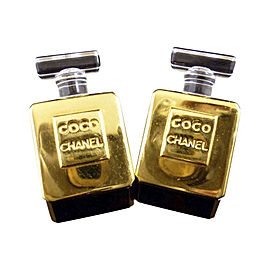 Chanel Gold-Tone Coco Perfume Motif Clip-On Earrings