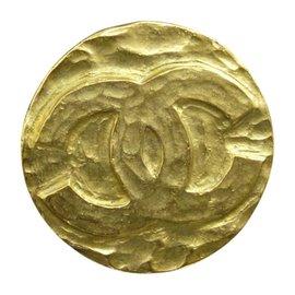Chanel Gold-Tone Coco Mark Motif Pin Brooch
