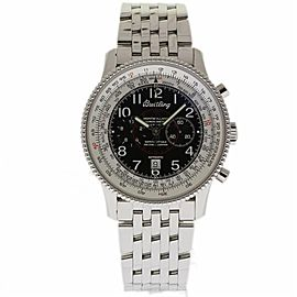 Breitling Navitimer Montbrillant A35330 Stainless Steel Black Dial 42mm Mens Watch
