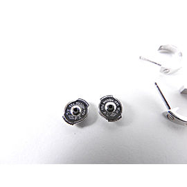 Auth CARTIER Mini Love Pierced Earring 18K 750 White Gold A-5550
