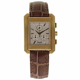 Piaget Protocol 14600 18K Yellow Gold & Leather 32mm Mens Watch