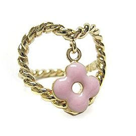Louis Vuitton Gold Tone Hardware Berg Cool Sweet Pink Ring Size 6.5