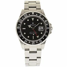 Rolex GMT Master 16700 Stainless Steel Black Dial Automatic 40mm Mens Watch