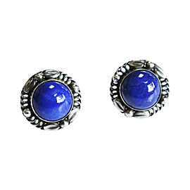 Georg Jensen 925 Sterling Silver and Lapis lazuli Earrings