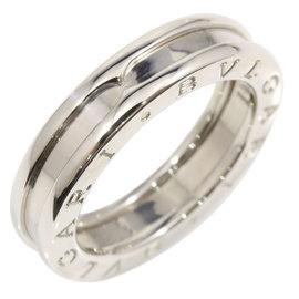 Bulgari 18K White Gold B-Zero 1 Band Ring Size 5.75