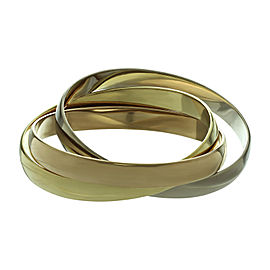 Cartier Trinity 18K Yellow, White and Rose Gold Vintage Bangle Bracelet
