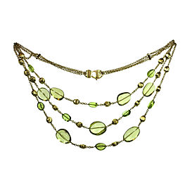 Marco Bicego 18K Yellow Gold with Citrine & Peridot Necklace