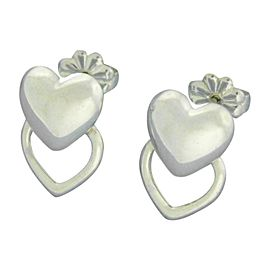 Tiffany & Co. 925 Sterling Silver Heart Earrings