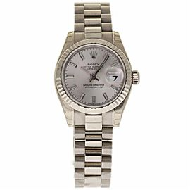 Rolex Datejust 179179 18K White Gold Automatic 26mm Womens Watch
