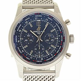 Breitling Transocean AB0510U9 / C879 Stainless Steel Automatic 46mm Mens Watch