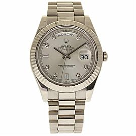 Rolex Day-Date II 218239 18K White Gold 41mm Automatic Mens Watch