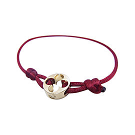 Louis Vuitton 18k Rose Gold with Red Cord Bracelet