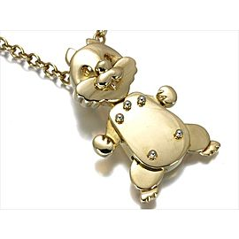 Pomellato 18K Yellow Gold Squirrel Motif Pendant Necklace