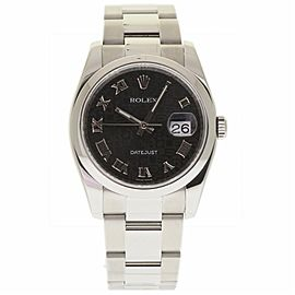 Rolex Datejust 116200 Stainless Steel Black Dial Automatic 36mm Unisex Watch