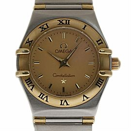 Omega Constellation 1262.70 Stainless Steel Gold Champagne 22mm Women's Watch